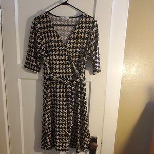 Black & Cream Houndstooth dress
